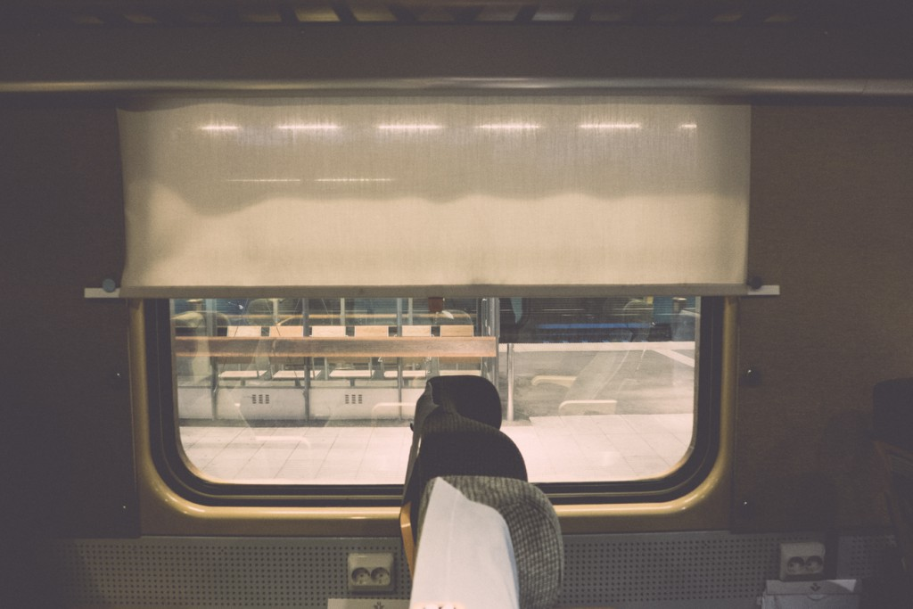 Alone on a train