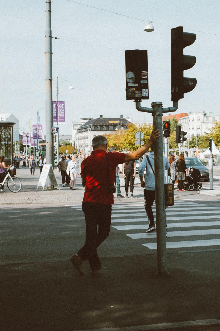 My father in Gothenburg