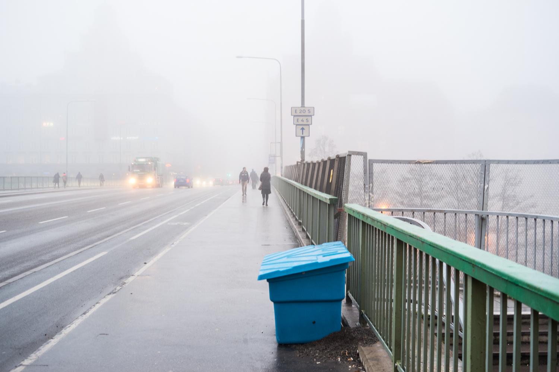 Stockholm morning fog