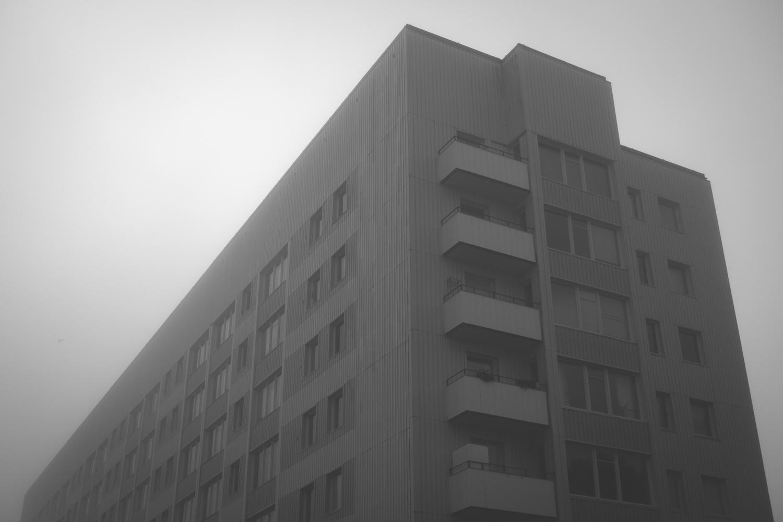 Eskilstuna, Nyfors, hiding in fog