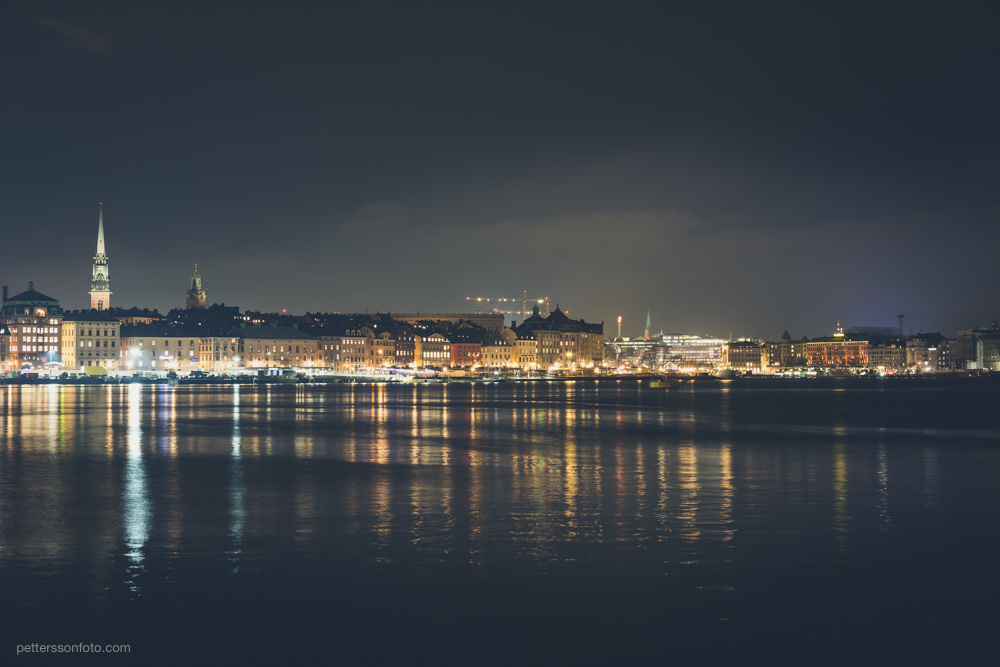 A long exposure photograph of Stockholm