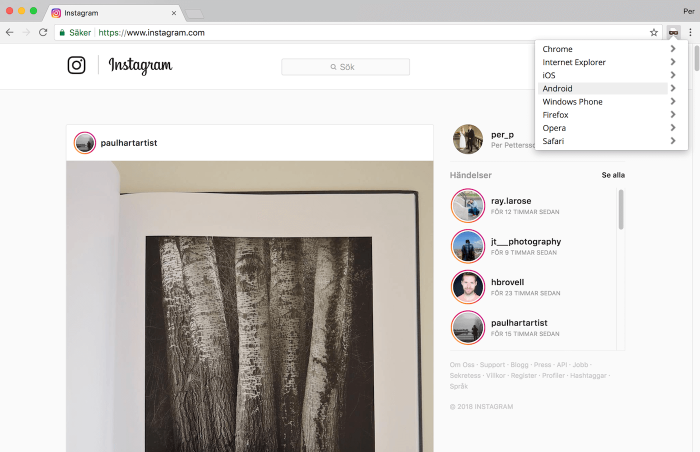 How to publish images on Instagram from your browser